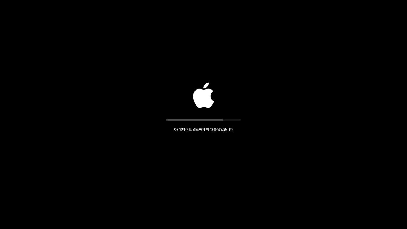 애플 OS업데이트 가시성