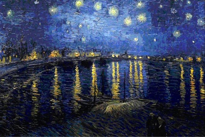 고흐 - Starry Night Over the Rhône