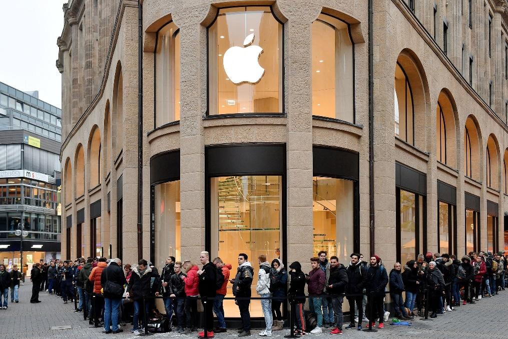 애플 매장 대기줄