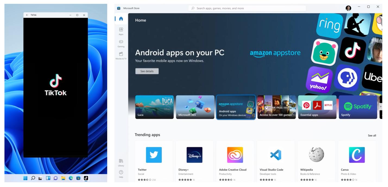 윈도우 11 안드로이드 앱 지원