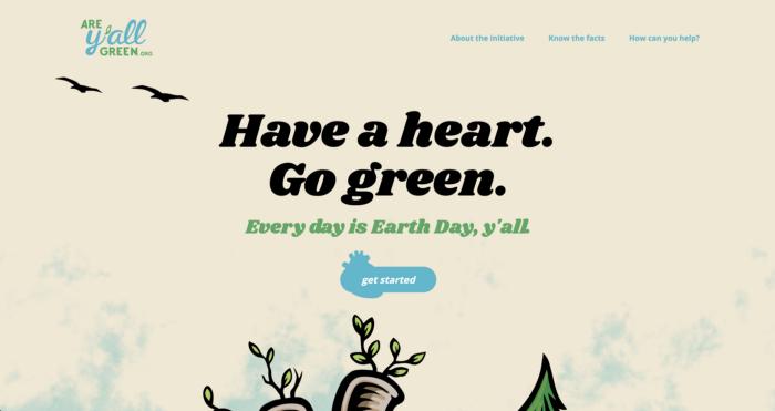 신중하게 계획된 애니메이션을 활용한 웹사이트 메인 페이지의 예시