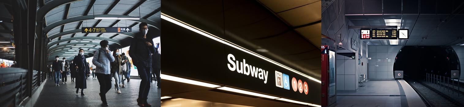 지하철 플랫폼,이동 경로와 내비게이션