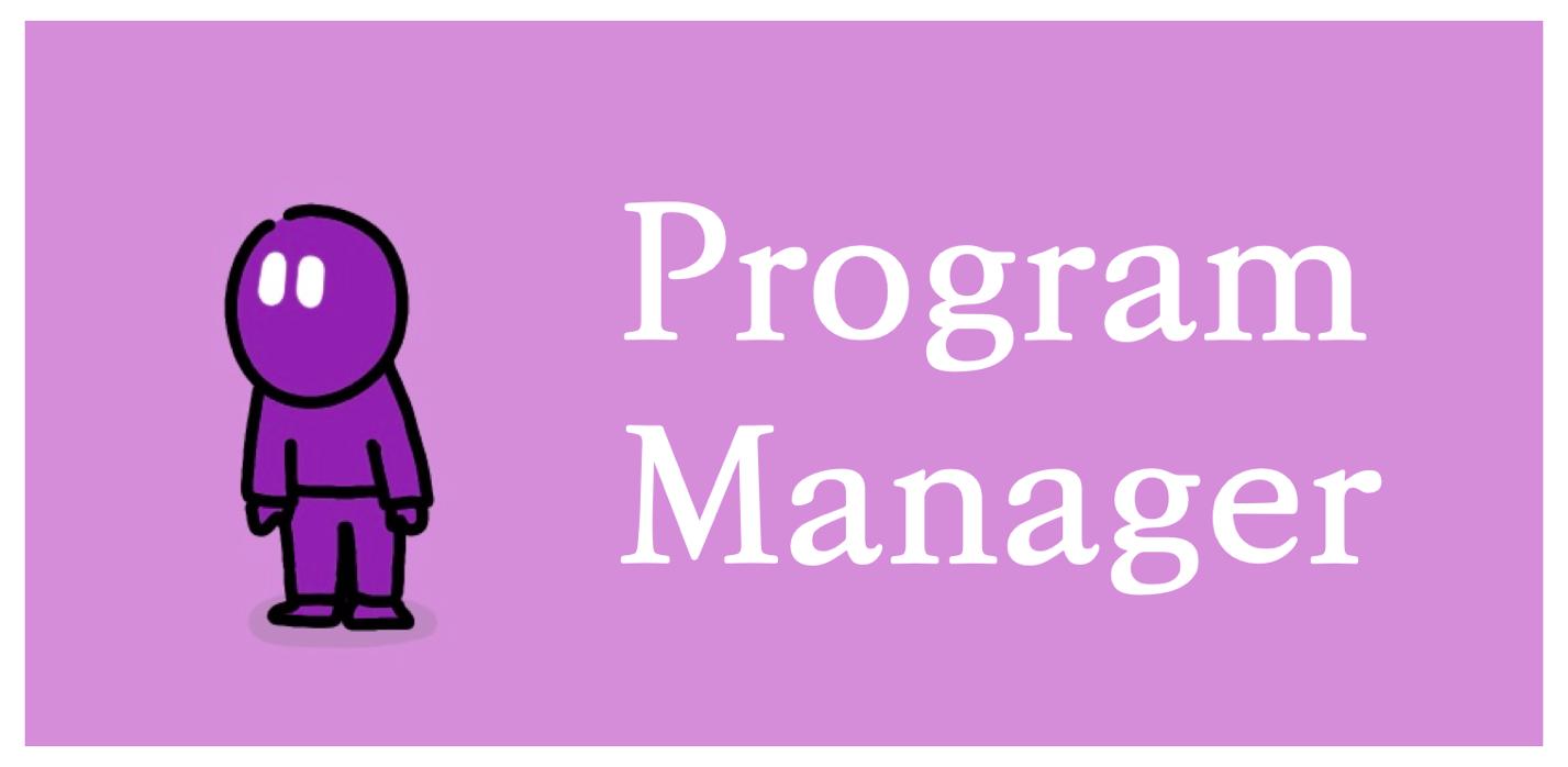 프로그램 매니저(Program Manager)