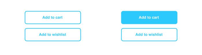 시각적 구분 없음 vs.시각적 구분